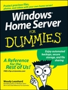 Windows Home Server For Dummies (eBook)